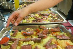 Bonítol al forn amb patates
