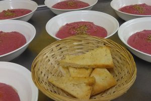 Hummus de remolatxa