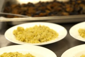 broqueta de gall d'indi amb mill i xampinyons